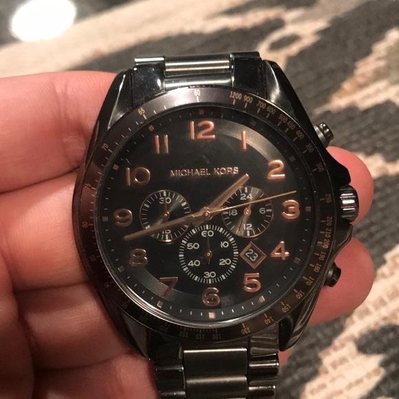 a3291368064d Gun metal Michael Kors watch. M 5b14b545df0307156d9286e1